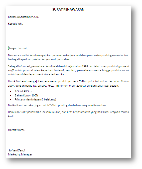Siapkan daftar Nama Perusahaan yang hendak kita kirimkan surat ...